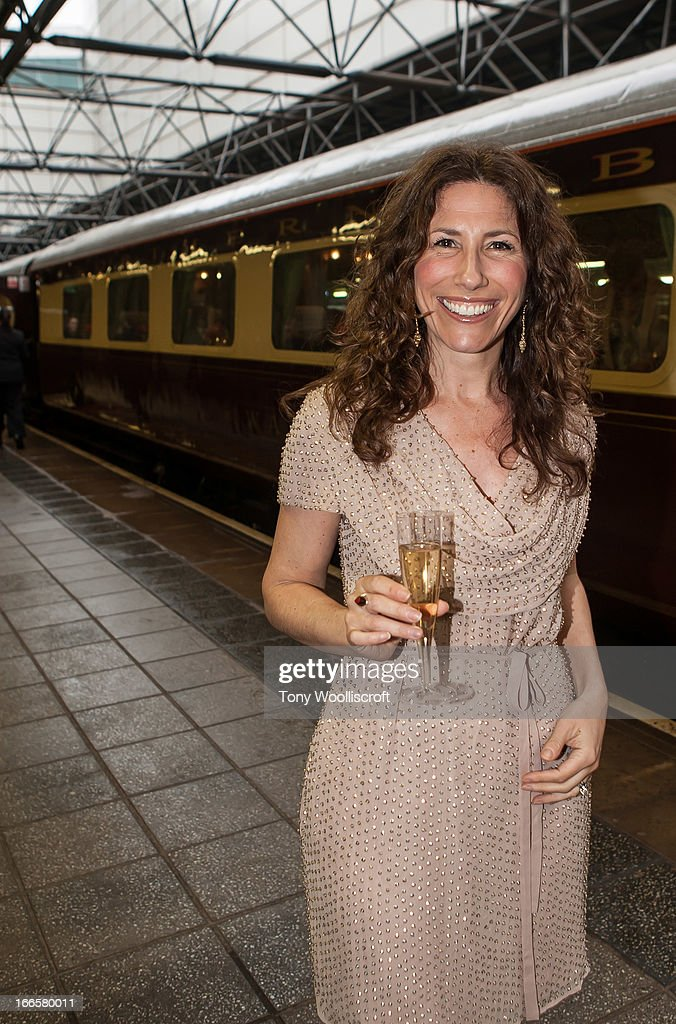 Gaynor Faye attends as The northern Belle makes a fundraising trip in aid of the 'When You Wish Upon a Star' charity on April 13, 2013 in Manchester, England.