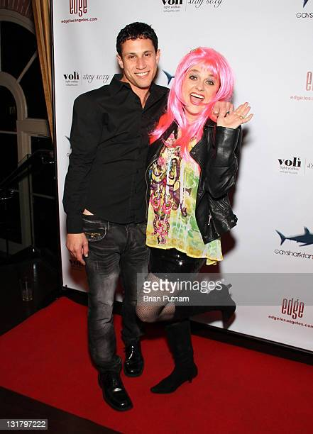 Gaysharktank owner Jordan Seltzer and Actress Julie Brown attends Launch Party for Gaysharktankcom at Eleven NightClub on February 10 2011 in West...