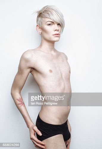 Gay/trans man in underwear