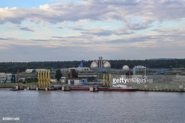 Gazoport Swinoujscie LNG terminall is seen on 30 July 2017 in Swinoujscie Poland