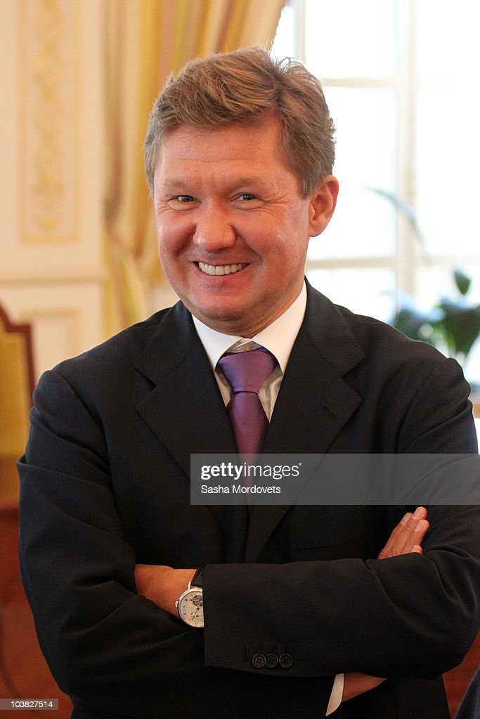 Gazprom CEO <a gi-track='captionPersonalityLinkClicked' href=/galleries/search?phrase=Alexei+Miller&family=editorial&specificpeople=713081 ng-click='$event.stopPropagation()'>Alexei Miller</a> attends a Russian-Azerbaijani meeting September 3, 2010 in Baku, Azerbaijan. Russian President Dmitry Medvedev is on a two-day state visit to Azerbaijan, aiming to bolster economic relations.