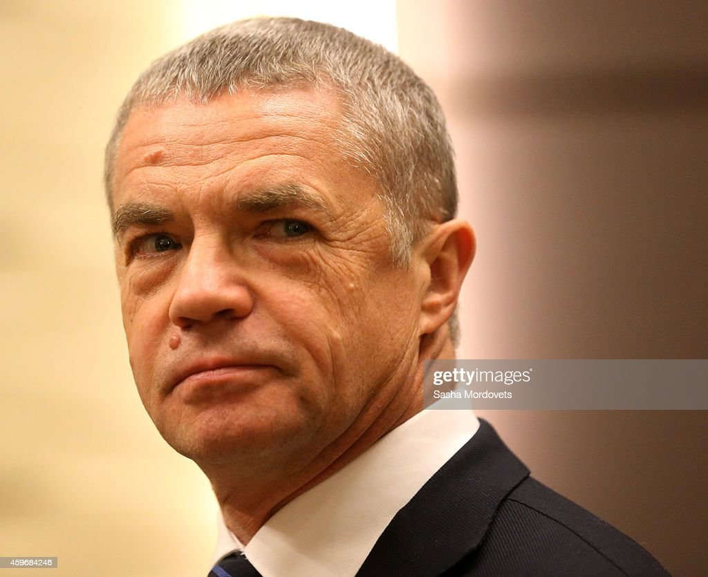 Gazprom's Deputy CEO <a gi-track='captionPersonalityLinkClicked' href=/galleries/search?phrase=Alexander+Medvedev&family=editorial&specificpeople=671477 ng-click='$event.stopPropagation()'>Alexander Medvedev</a> attends a meeting in Bocharov Ruchey State Residence on November 28, 2014 in Sochi, Russia.