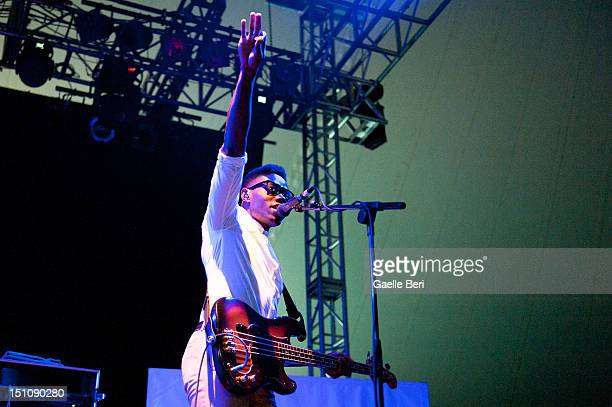 Gbenga Adelekan of Metronomy performs on stage during Electric Picnic on August 31 2012 in Stradbally Ireland