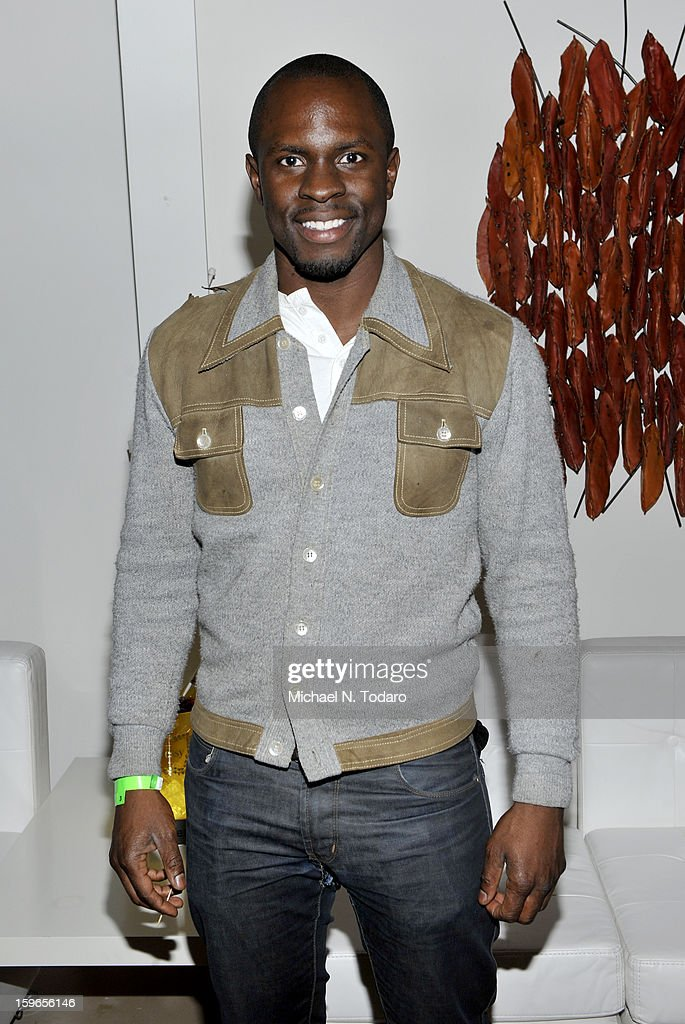 <a gi-track='captionPersonalityLinkClicked' href=/galleries/search?phrase=Gbenga+Akinnagbe&family=editorial&specificpeople=2293588 ng-click='$event.stopPropagation()'>Gbenga Akinnagbe</a> attends the Hennessy VS Presents 'The Inevitable Defeat of Mister and Pete' sponsored by Reebok and Blackberry at the Julie Nester Gallery on January 17, 2013 in Park City, Utah.