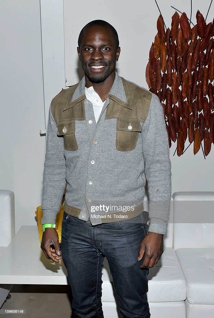 Gbenga Akinnagbe attends the Hennessy VS Presents 'The Inevitable Defeat of Mister and Pete' sponsored by Reebok and Blackberry at the Julie Nester Gallery on January 17, 2013 in Park City, Utah.