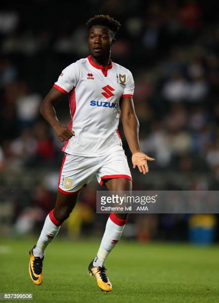 Gboly Ariyibi of MK Dons during the Carabao Cup Second Round match between Milton Keynes Dons and Swansea City at StadiumMK on August 22 2017 in...