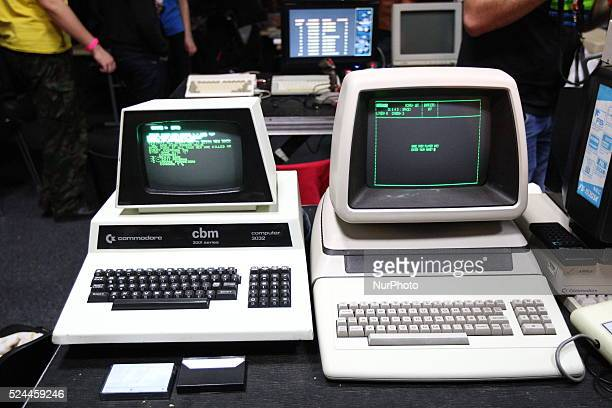 Gdans poland 17th Oct 2015 Retro computers show in Gdansk named RETROKOMP/LOAD ERROR 2015 Tens of exhibitors show their Atari ZX Spectrum Amiga...