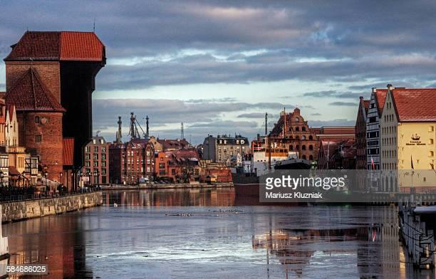 Gdansk Crane Gate and docklands reflections