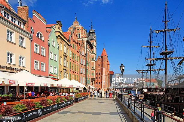 Gdansk, old town and Motlawa river