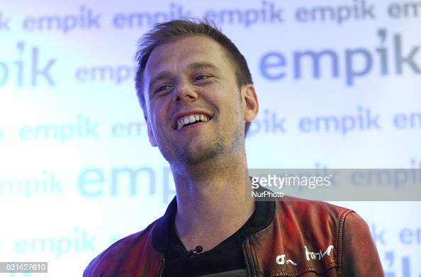 Gdansk poland 14th May 2016 Dutch remixer music producer DJ musician pianist and songwriter Armin van Buuren meets fans to promote his latest album...