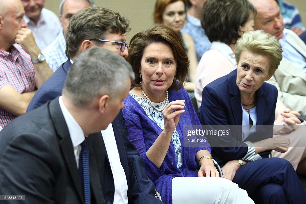 Gdansk, Poland 27th, June 2016 Malgorzata Kidawa Blonska attends The Reginal Convention of the Civic Platform party (Platforma Obywatelska) in Gdansk.
