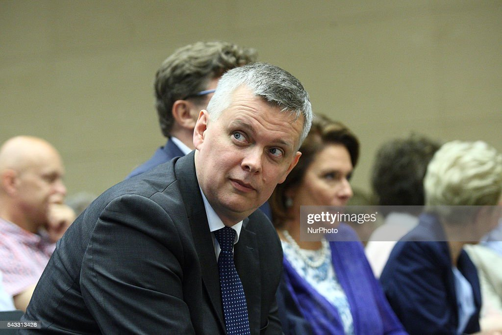 Gdansk, Poland 27th, June 2016 Tomasz Siemoniak, attends The Reginal Convention of the Civic Platform party (Platforma Obywatelska) in Gdansk.