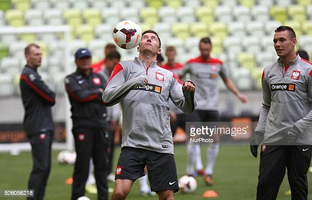 Gdansk Poland 5th June 2014 Polish National football team official training before the Lithuania friendly game on Friday 6th of June Borussia...