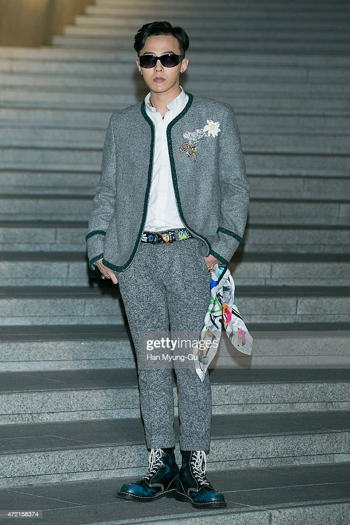 Dragon aka Kwon JiYong of South Korean boy band Bigbang attends the Chanel 2015/16 Cruise Collection show on May 4 2015 in Seoul South Korea