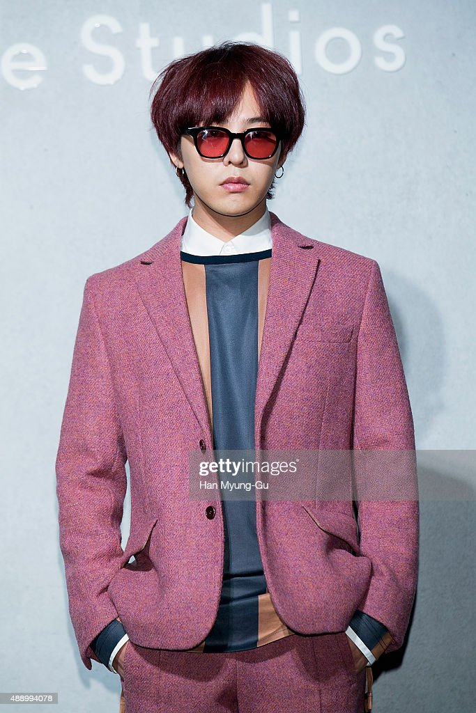 Dragon aka Kwon JiYong of South Korean boy band Bigbang attends the launch party for 'Acne Studio' flagship store on September 18 2015 in Seoul South...