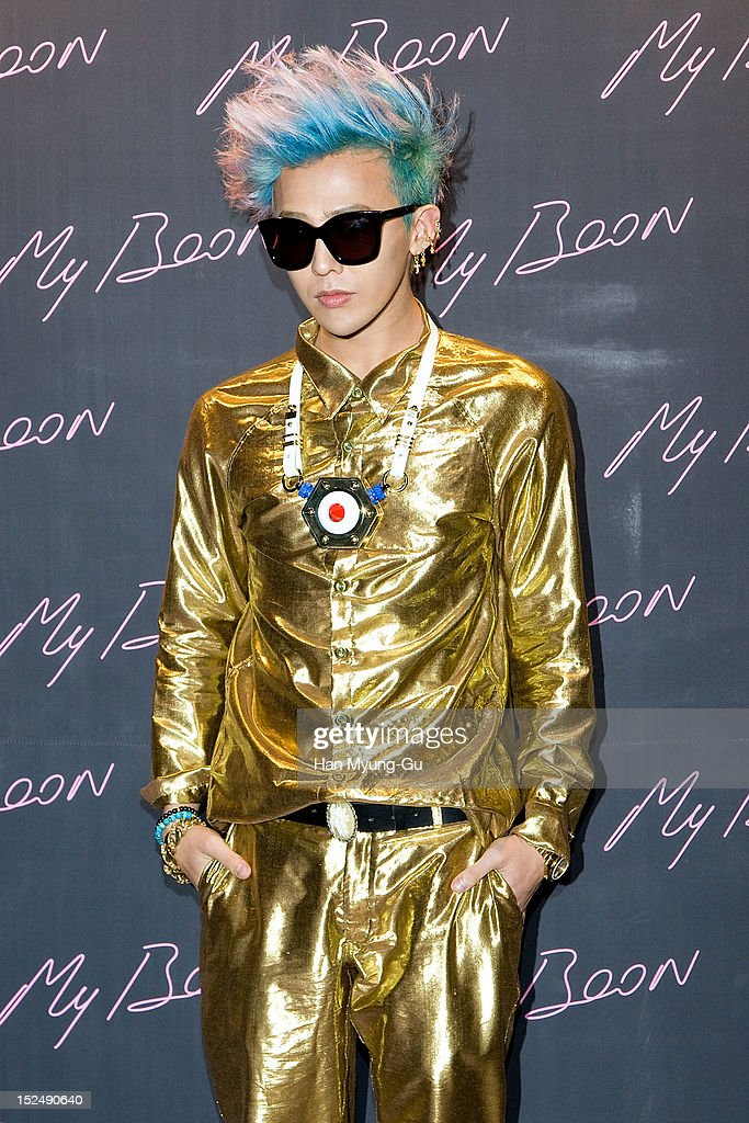 Dragon of South Korean boy band Bigbang attends during the 'AMBUSH' Collaboration with GDragon of Bigbang Launching Party at My Boon on September 20...