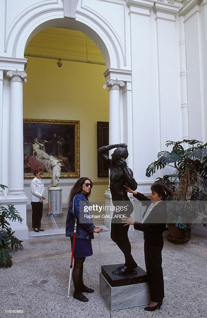 L'âge d'airain by Rodin in a museum openning for the blind in Nice, France in February, 1993.