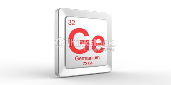 Ge Symbol 32 Material For Germanium Chemical Element Stock Photo