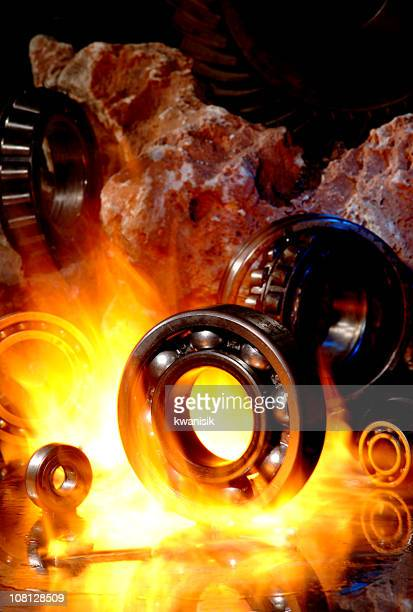 Gear Parts in Kiln