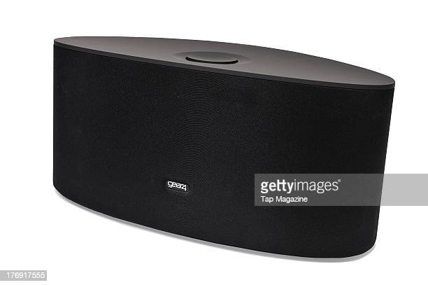 A gear4 AirZone Series 3 AirPlay speaker photographed during a studio shoot for Tap Magazine February 6 2013
