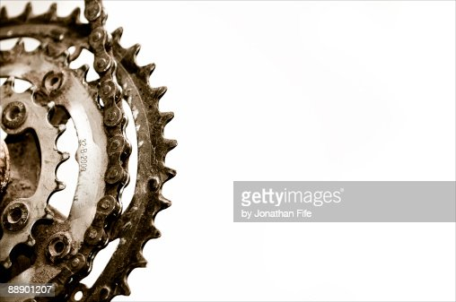 Gears against white background
