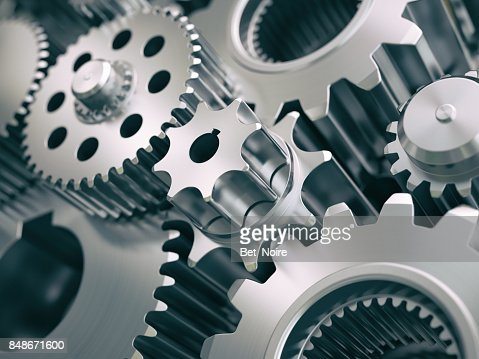 Gears and cogwheels engine  industrial background. : Stock Photo