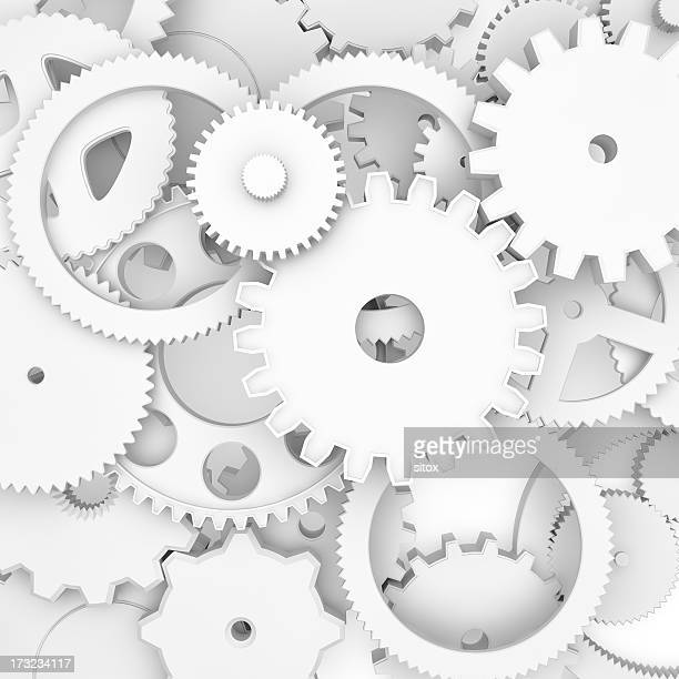 Gearwheels arrangement background