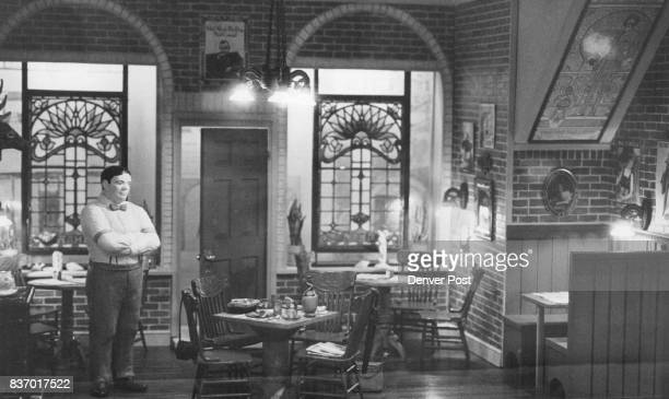 AUG 5 1978 AUG 8 1978 AUG 9 1978 'Geary Street 1976' Small Version San Francisco Pizzaria Chianti wine and deepdish pizza await diners in miniature...