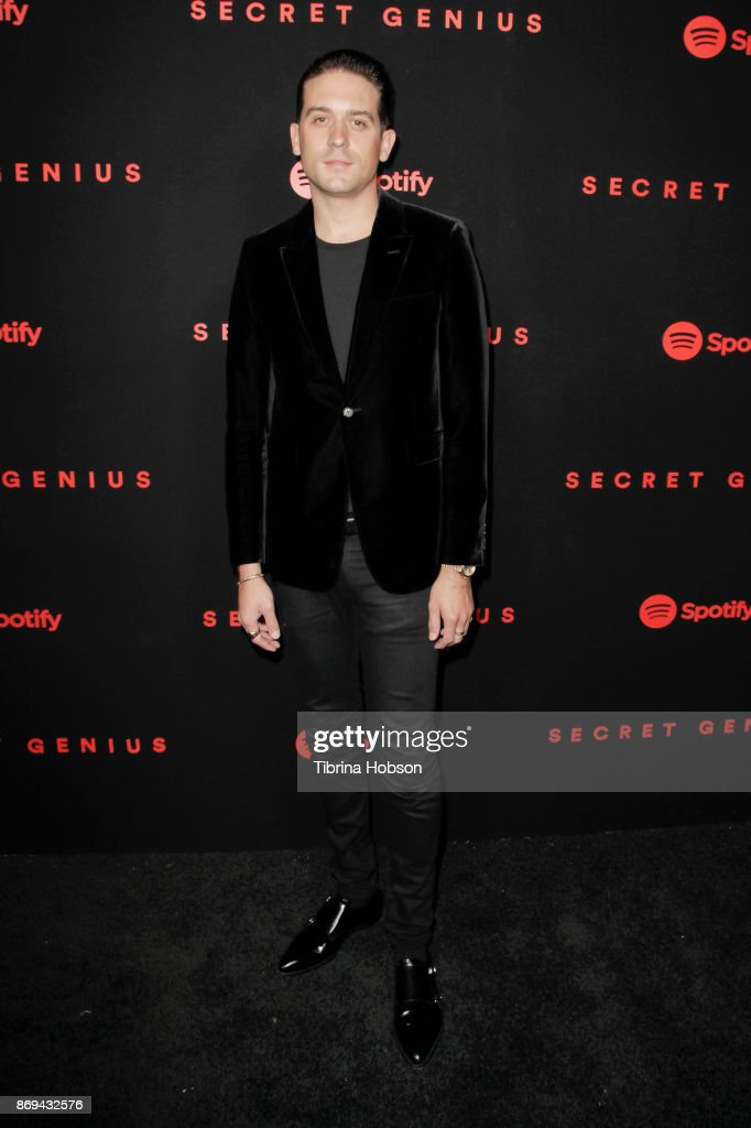 G-Eazy attends Spotify's Inaugural Secret Genius Awards on November 1, 2017 in Los Angeles, California.