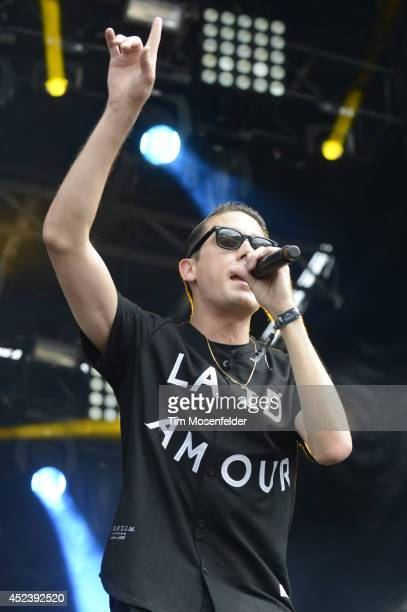 Eazy performs during the Pemberson Music and Arts Festival on July 18 2014 in Pemberton British Columbia