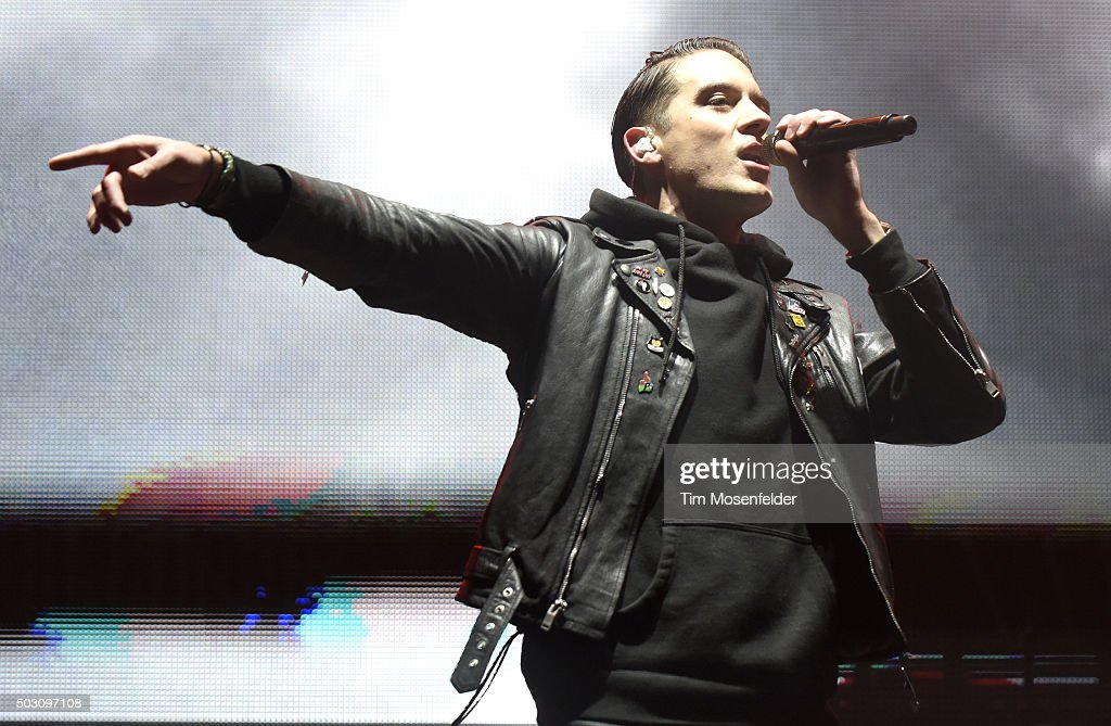 Eazy performs during the Snowglobe Music Festival at Lake Tahoe Community College on December 31 2015 in South Lake Tahoe California