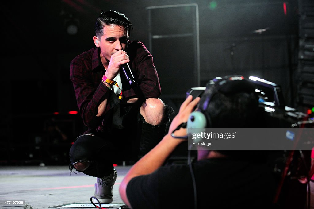 G-Eazy performs onstage at This Tent during Day 4 of the 2015 Bonnaroo Music And Arts Festival on June 14, 2015 in Manchester, Tennessee.