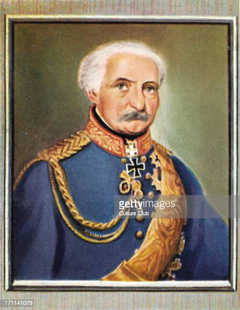 Gebhard Leberecht von Blücher Portrait of Prussian Generalfeldmarschall who led his army against Napoleon I at the Battle of the Nations at Leipzig...
