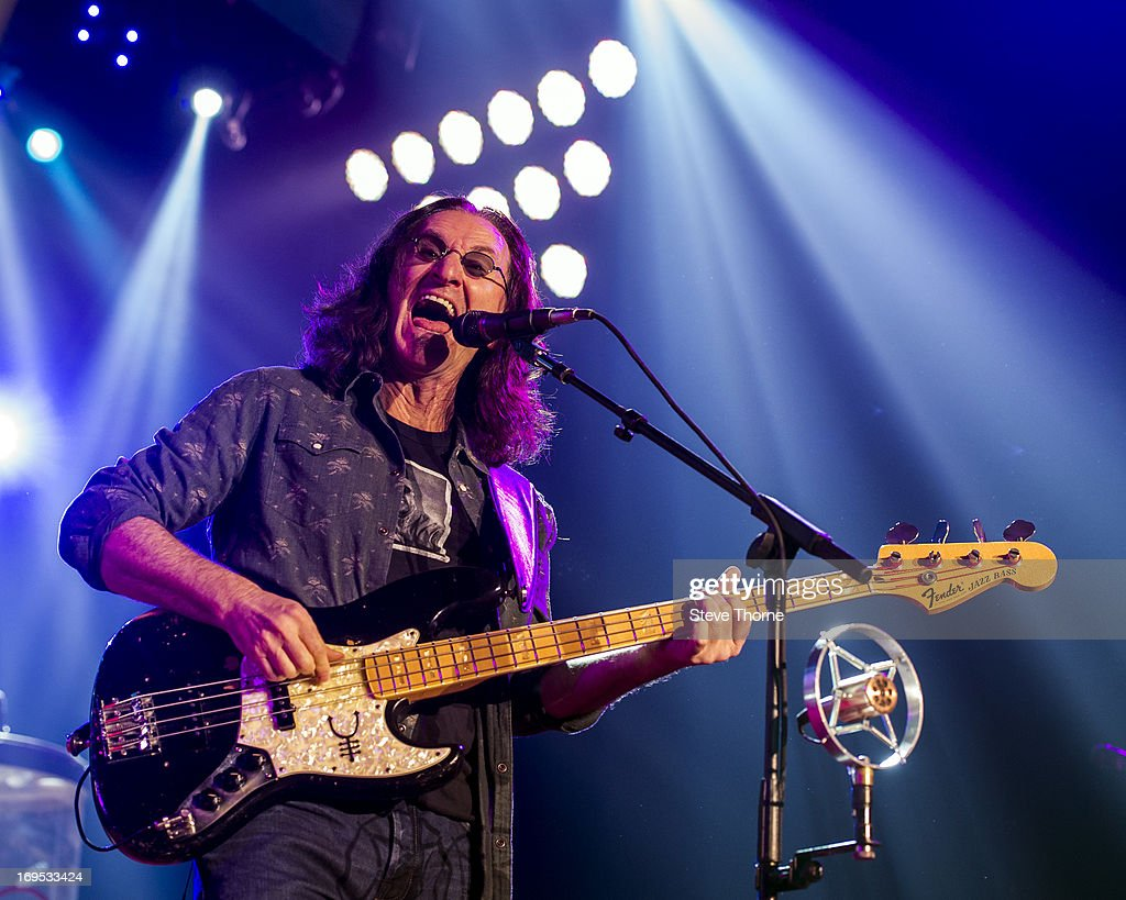 Geddy Lee at LG Arena on May 26, 2013 in Birmingham, England.