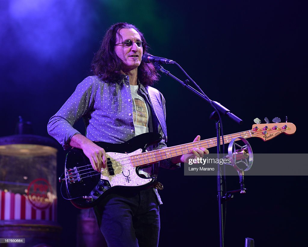 <a gi-track='captionPersonalityLinkClicked' href=/galleries/search?phrase=Geddy+Lee&family=editorial&specificpeople=212809 ng-click='$event.stopPropagation()'>Geddy Lee</a> of Rush performs at BB&T Center on April 26, 2013 in Sunrise, Florida.