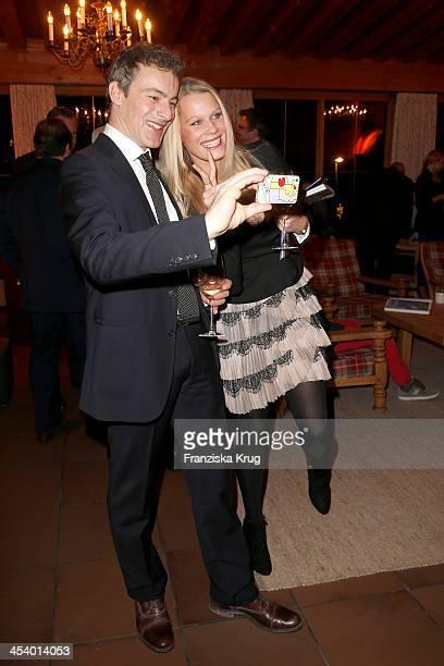 Gedeon Burkhard and Anika Bormann attend the Gala Dinner At Kuehtai Castle Tirol Cross Mountain 2013 on December 06 2013 in Innsbruck Austria