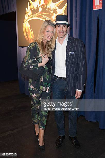 Gedeon Burkhard and Anika Bormann attend the pre opening party of the exhibition 'Game of Thrones Die Ausstellung' on May 12 2015 in Berlin Germany