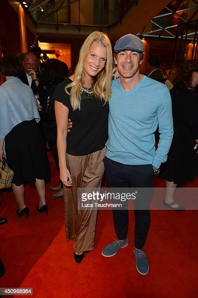 Gedeon Burkhard and Annika Bormann attend the Christoph Metzelder Foundation Charity Golf Cup Gala at Axica on June 20 2014 in Berlin Germany