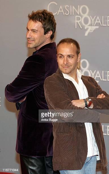 Gedeon Burkhard and Erdogan Atalay during 'Casino Royale' Berlin Premiere November 21 2006 in Berlin Berlin Germany