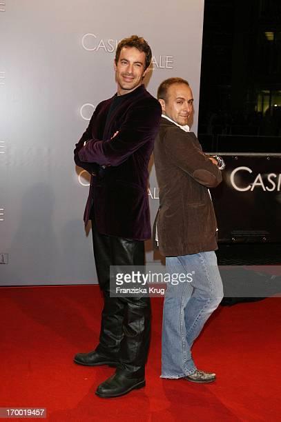 Gedeon Burkhard And Erdogan Atalay In Germany at Premiere Of 'Casino Royale' in Cinestar Potsdamer Platz Berlin