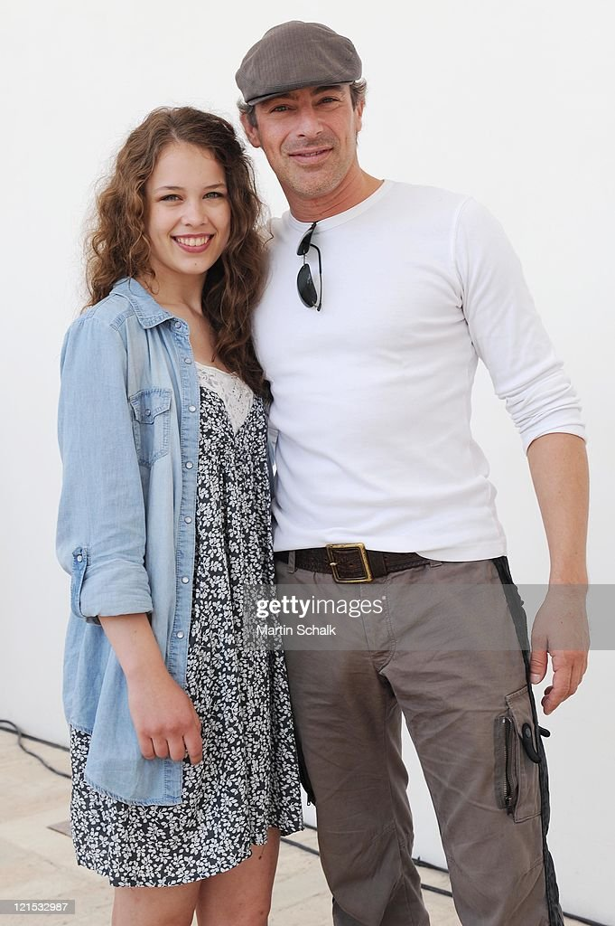 <a gi-track='captionPersonalityLinkClicked' href=/galleries/search?phrase=Gedeon+Burkhard&family=editorial&specificpeople=818197 ng-click='$event.stopPropagation()'>Gedeon Burkhard</a> and Paula Beer attend the photocall for the Ludwig II movie at Castle Hof on August 20, 2011 in Hof near Vienna, Austria. 125 years after his death King Ludwig II remains a fascinating personality for many people and his heritage, the castles Neuschwanstein, Linderhof and Herrenchiemsee are still today tourist attractions. The movie will be shot in original locations and hit the cinemas in december 2012.