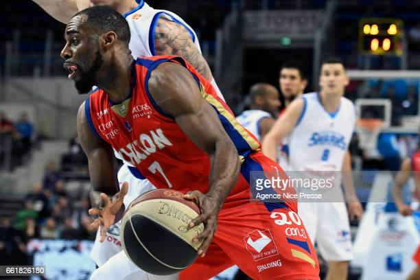 Gedeon Pitard of Chalon during the French Pro A match between Antibes and Chalon sur Saone on March 31 2017 in Antibes France