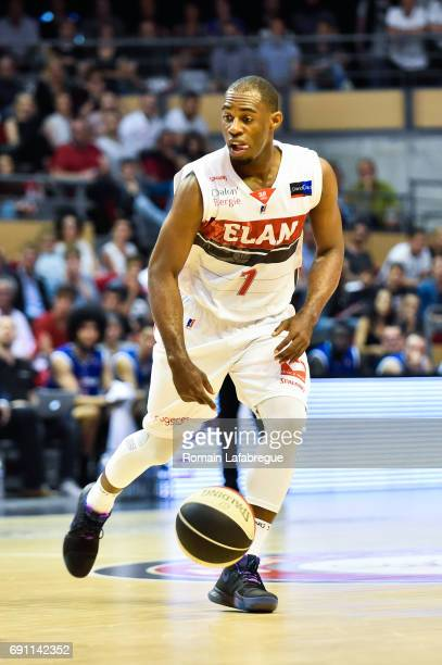 Gedeon Pitard of Chalon during the Pro A PlayOffs match between Elan Chalon sur Saone and ParisLevallois on May 31 2017 in ChalonsurSaone France