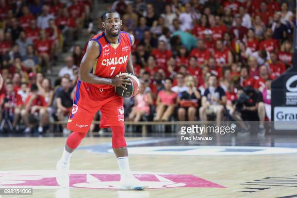Gedeon Pitard of Chalon sur Saone during the Playoffs Pro A Final match between Strasbourg and Chalon sur Saone on June 19 2017 in Strasbourg France