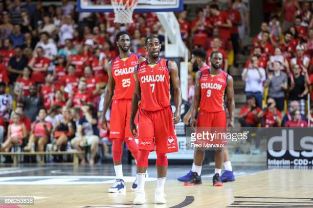Gedeon Pitard of Chalon sur Saone looks dejected during the Playoffs Pro A Final match between Strasbourg and Chalon sur Saone on June 19 2017 in...