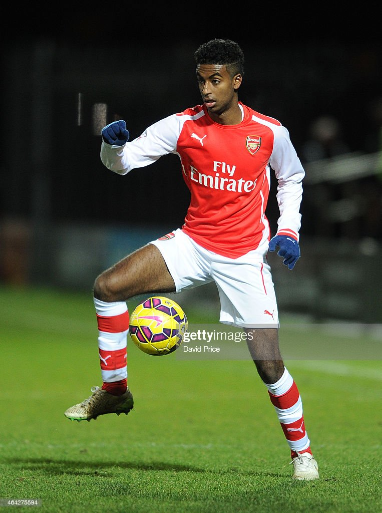 Gedion Zelalem of Arsenal during the match between Arsenal U18 and Crewe Alexandra U18 in the FA Youth Cup 5th Round at The Hive on February 23 2015...
