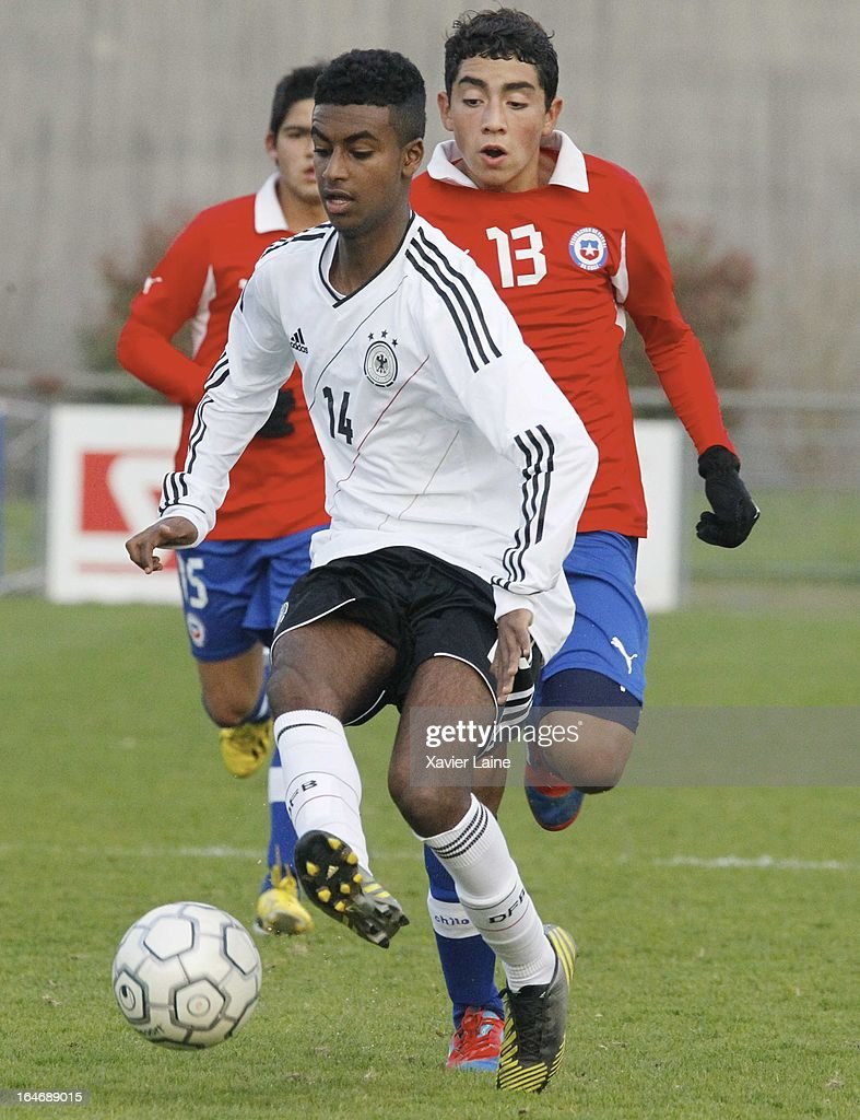 Gedion Zezalem of Grmany during the International Friendly matceh between U16 Germany and U16 Chile on March 26, 2013 in La Roche-sur-Yon, France.