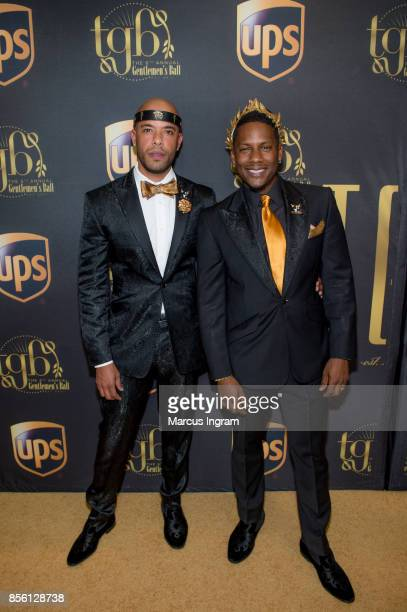 Gee and Juan Smalls attend The 6th Annual Gentlemen's Ball at Atlanta Marriott Marquis on September 30 2017 in Atlanta Georgia