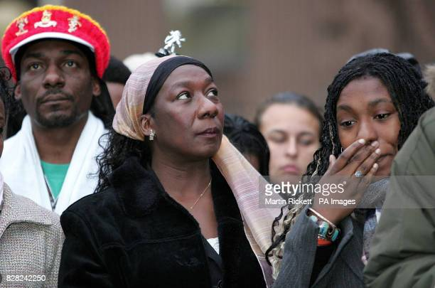 Gee Walker mother of Anthony Walker with Anthony's sister Dominique and uncle Shiloh Naphtali outside Liverpool Crown Court Wednesday November 30...