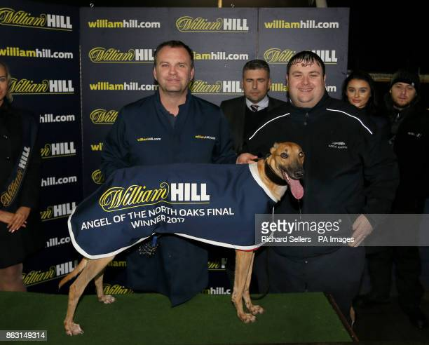 Geelo Zip with connections C A Perry and Geelo Racing after winning the Angel of the North Oaks Final Race seven at Newcastle during the William Hill...